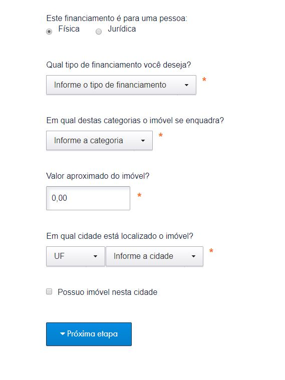 Simulador de Financiamento Caixa